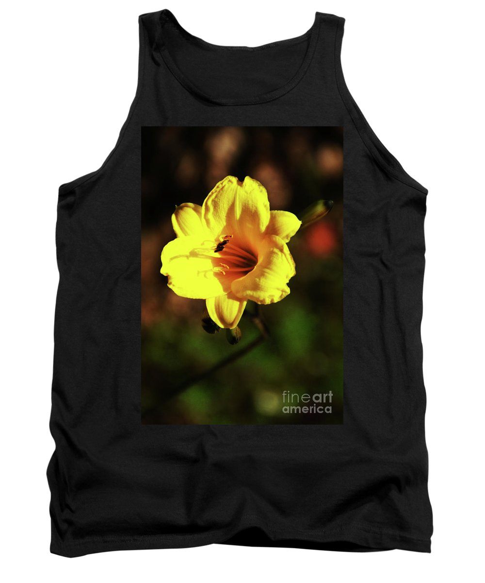 Flower Tank Top featuring the photograph Out Of Darkness Into Light by Linda Shafer