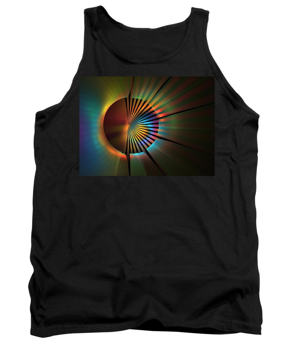 Apophysis Tank Top featuring the digital art Out Of The Corner Of My Eye by Lyle Hatch