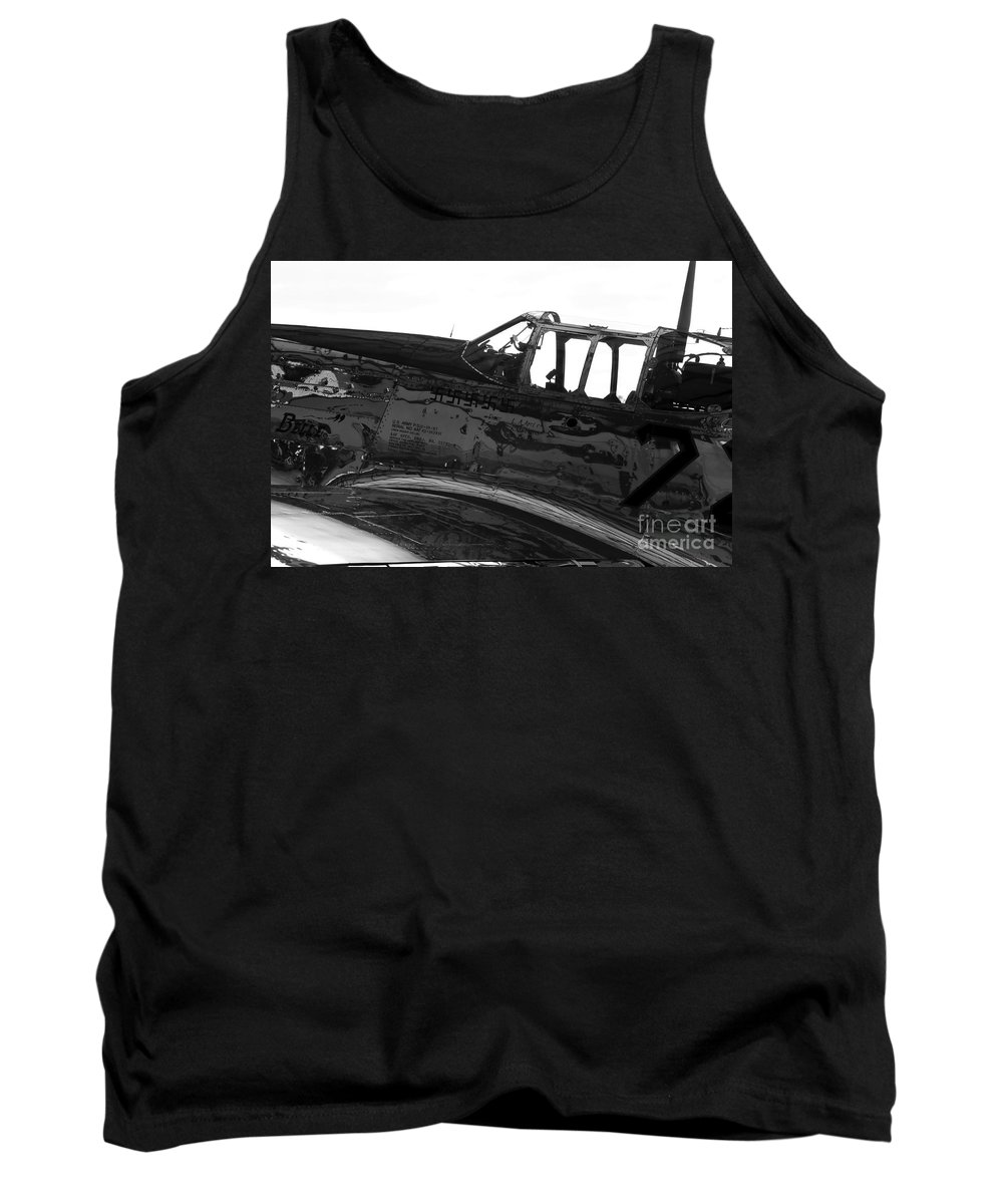 P 51 Fighter Tank Top featuring the photograph P 51 C by David Lee Thompson