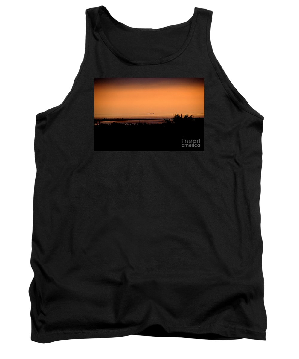 Barge Tank Top featuring the photograph Pacific Barge - 1 by Linda Shafer