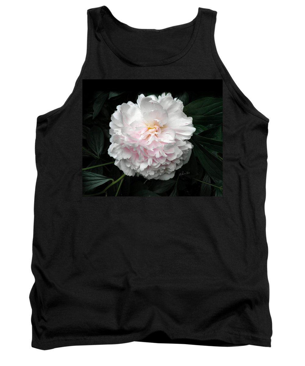 Peony Tank Top featuring the photograph Paeon by T Cook