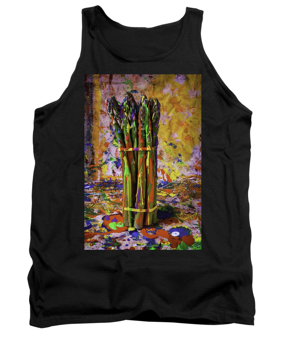 Painted Tank Top featuring the photograph Painted Asparagus by Garry Gay