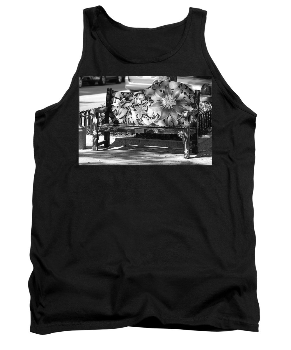 Pop Art Tank Top featuring the photograph Painted Bench by Rob Hans