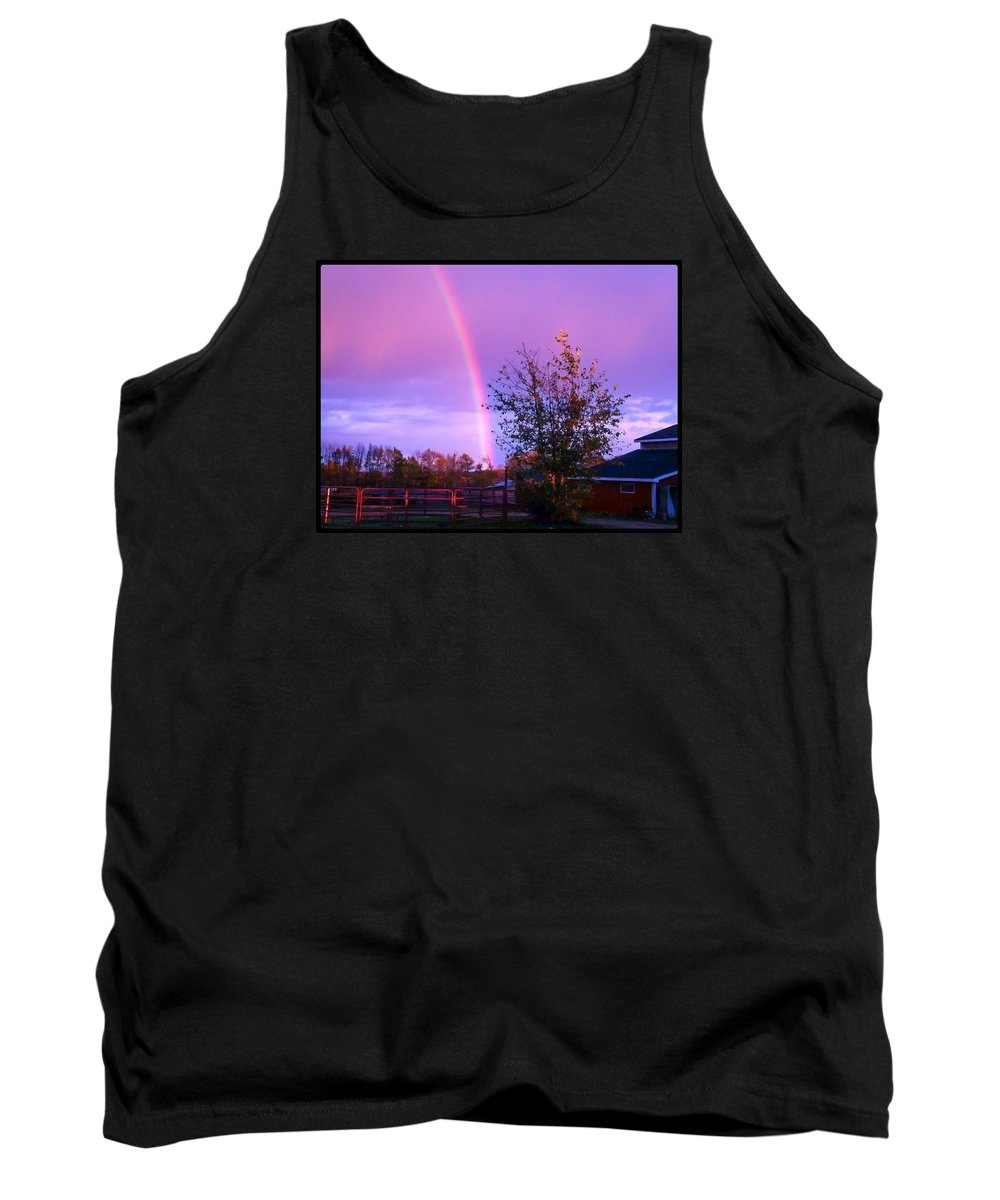 Rainbow Tank Top featuring the photograph Painted Dreams Farm by Karen Dzielsky