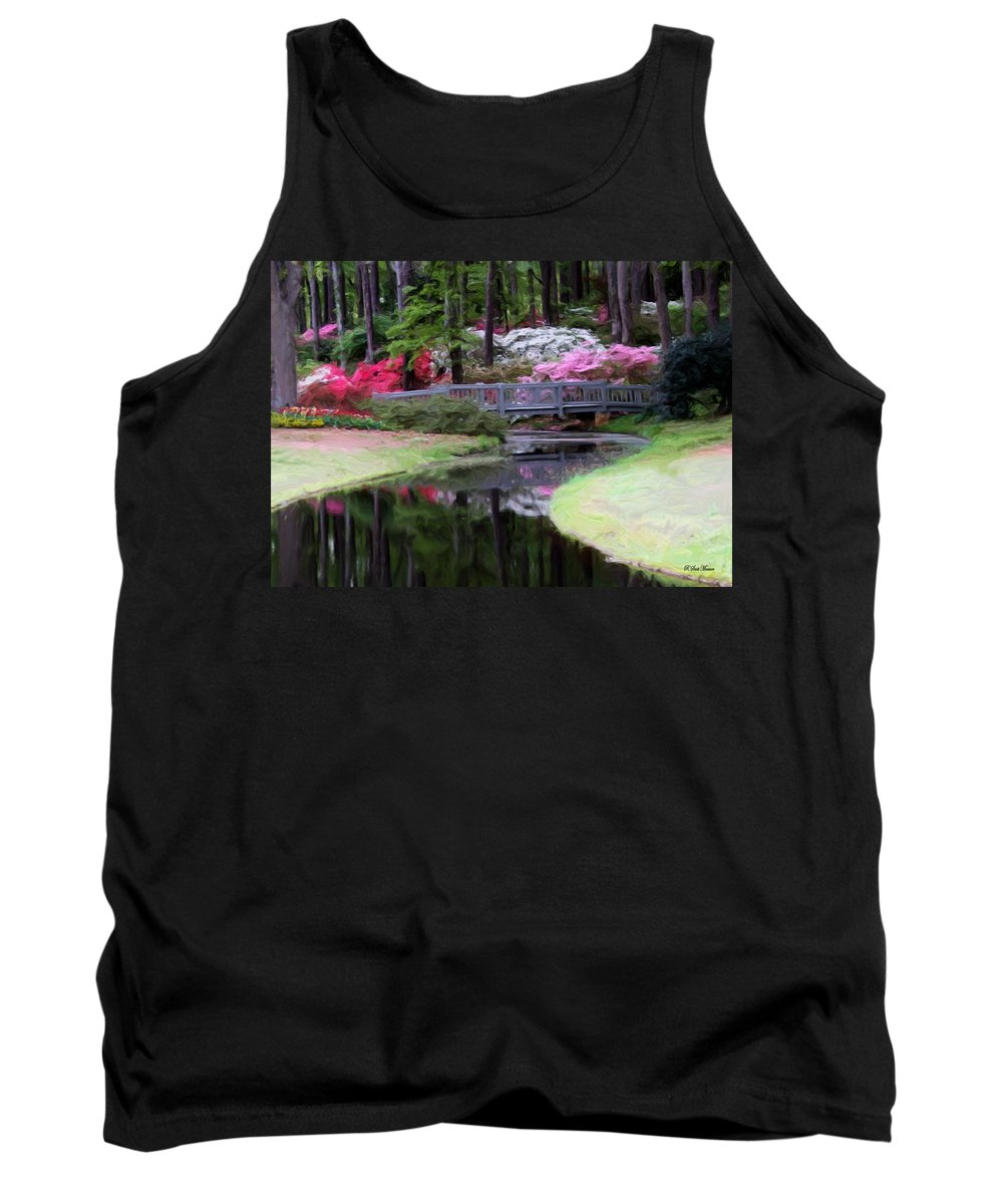 Calloway Gardens Tank Top featuring the painting Painting At Calloway by Robert Meanor