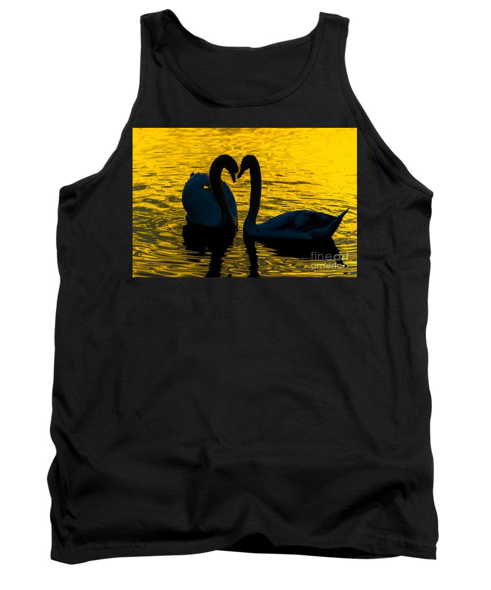 Swan Tank Top featuring the photograph Pair Of Swans by Valerio Poccobelli