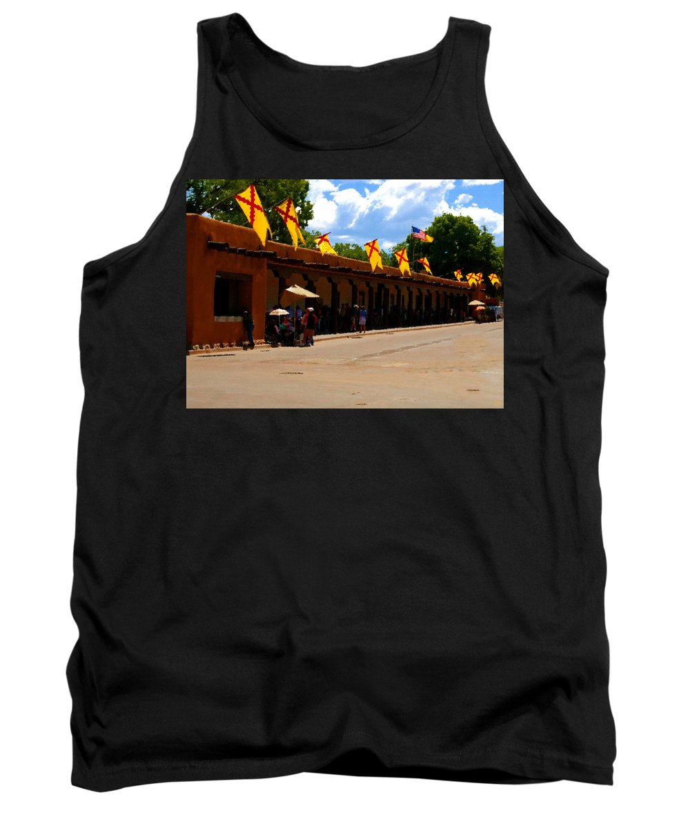 Palace Of The Governors Tank Top featuring the painting Palace Of The Governors by David Lee Thompson