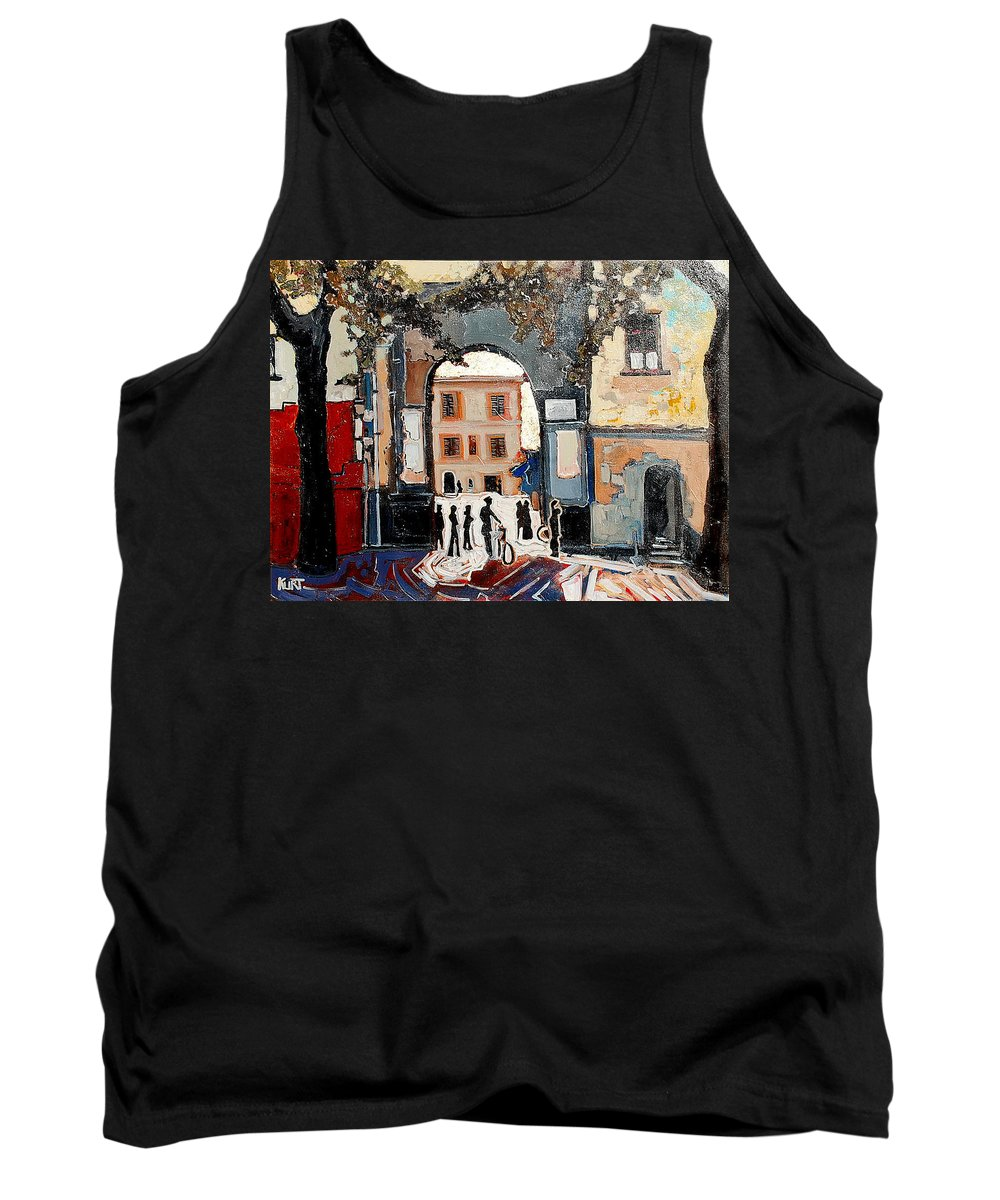 Tuscany Tank Top featuring the painting Palazzo Vecchio by Kurt Hausmann