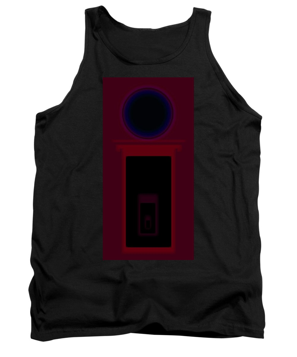 Palladian Tank Top featuring the painting Palladian Red by Charles Stuart