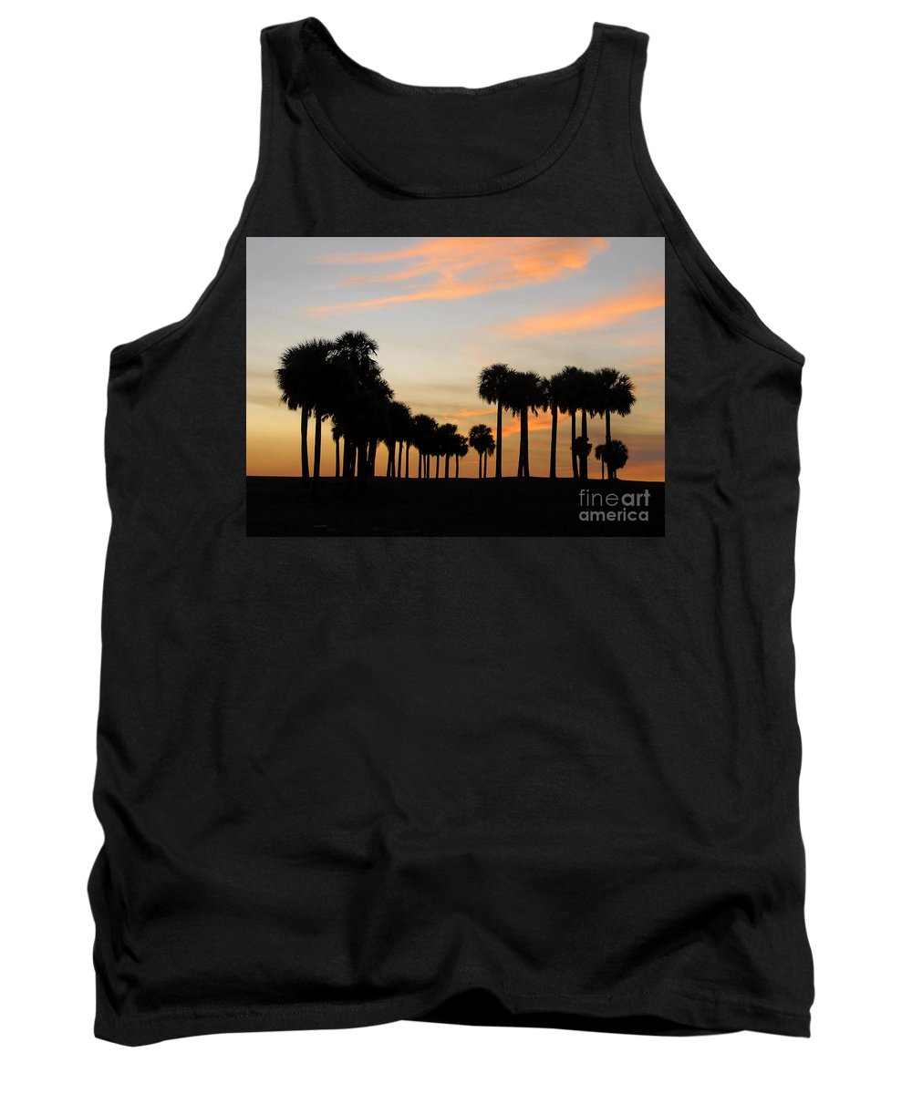 Palm Trees Tank Top featuring the photograph Palms At Sunset by David Lee Thompson