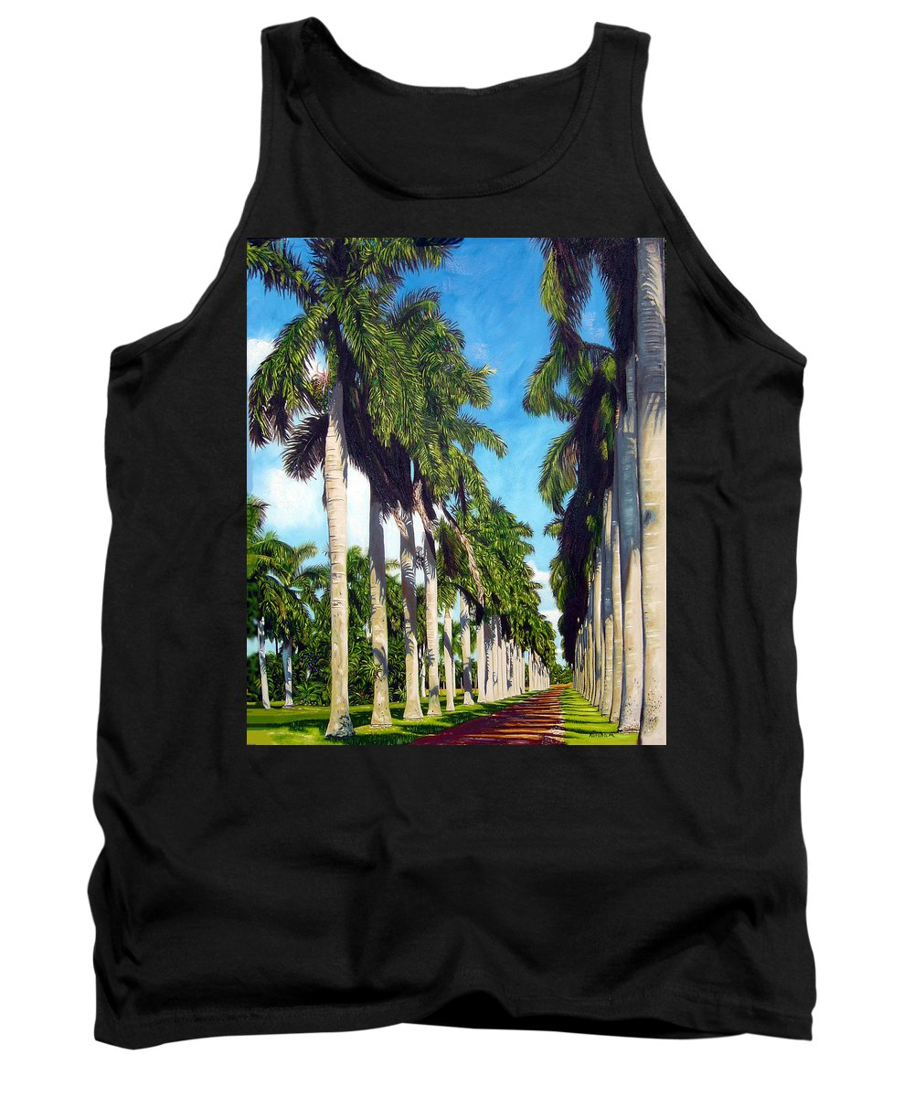 Palms Tank Top featuring the painting Palms by Jose Manuel Abraham