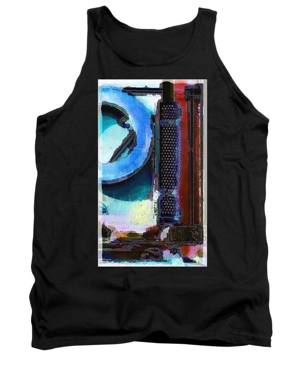 Abstract Tank Top featuring the photograph panel one from Centrifuge by Steve Karol