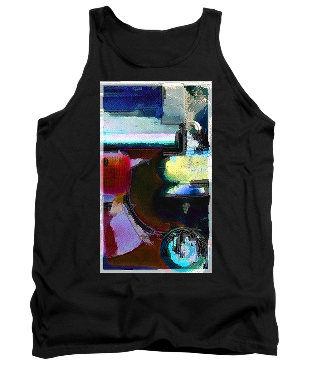 Abstract Tank Top featuring the photograph panel two from Centrifuge by Steve Karol