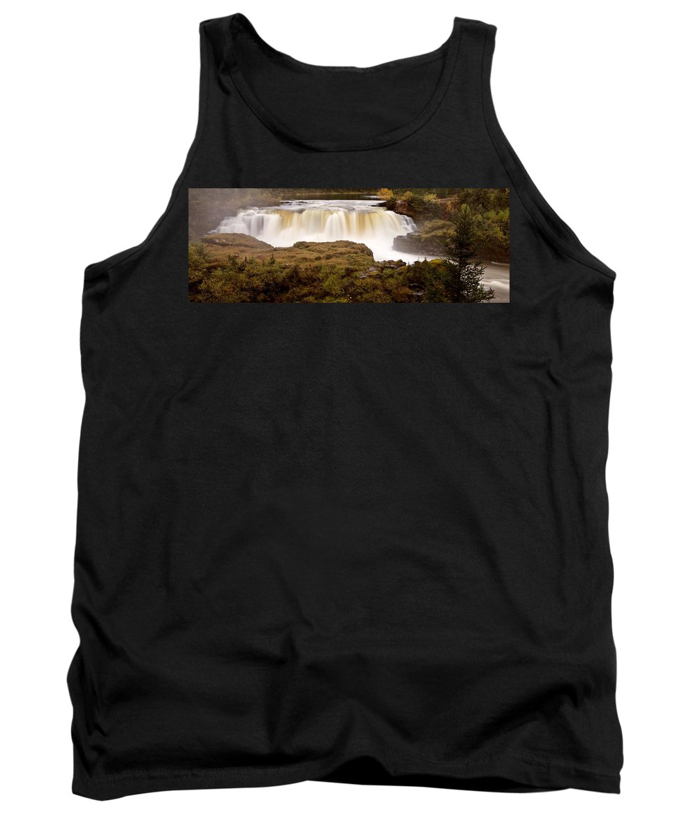 Tank Top featuring the digital art Panoramic Waterfall Manitoba by Mark Duffy