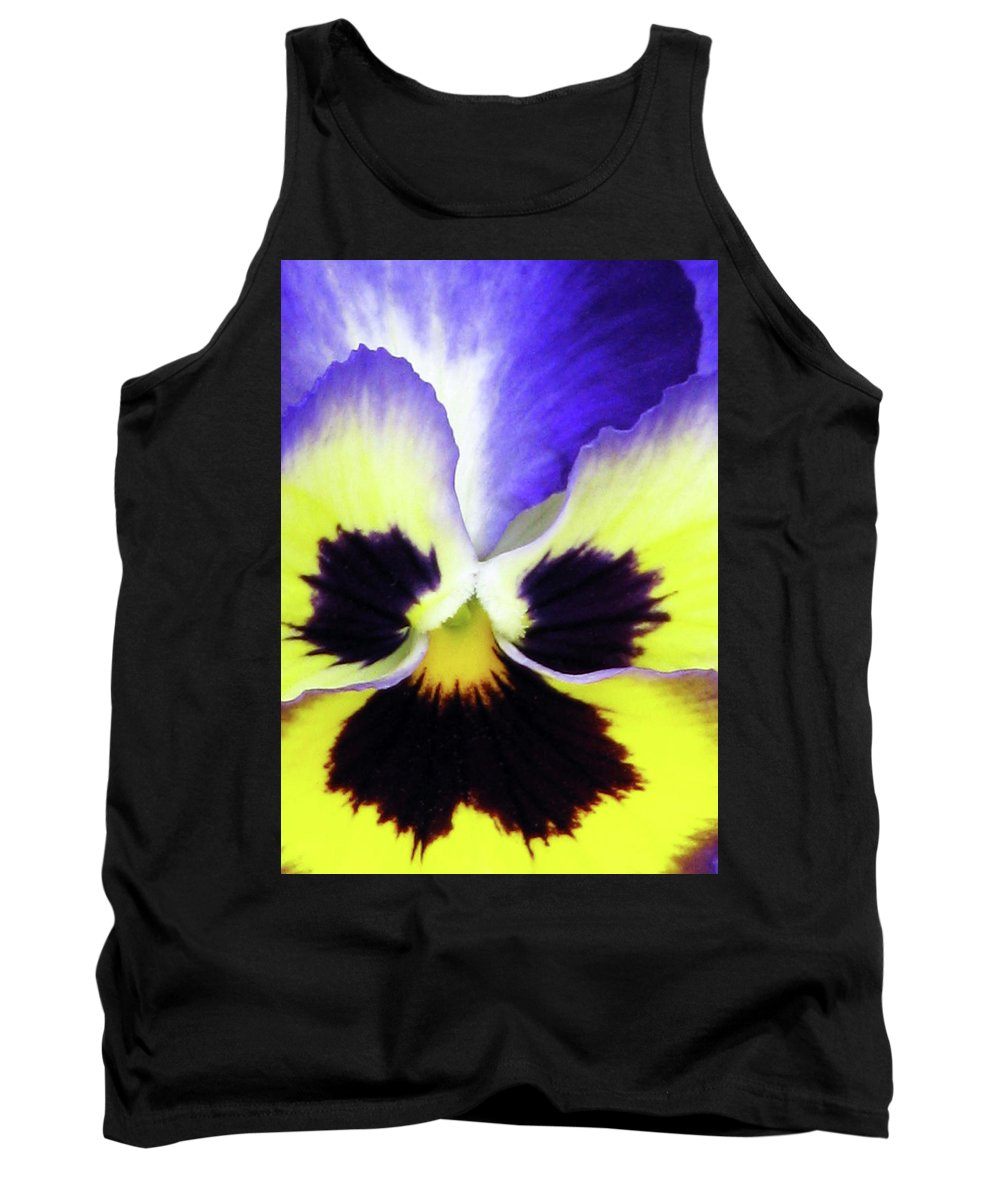 Pansy Tank Top featuring the photograph Pansy 10 - Thoughts Of You by Pamela Critchlow