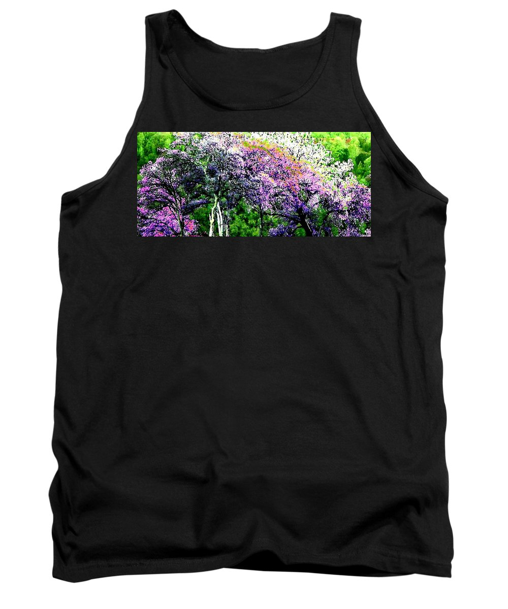 Photo Design Tank Top featuring the digital art Paradise Hills by Will Borden