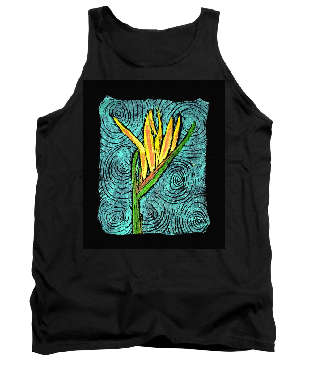 Flower Tank Top featuring the painting Paradise by Wayne Potrafka