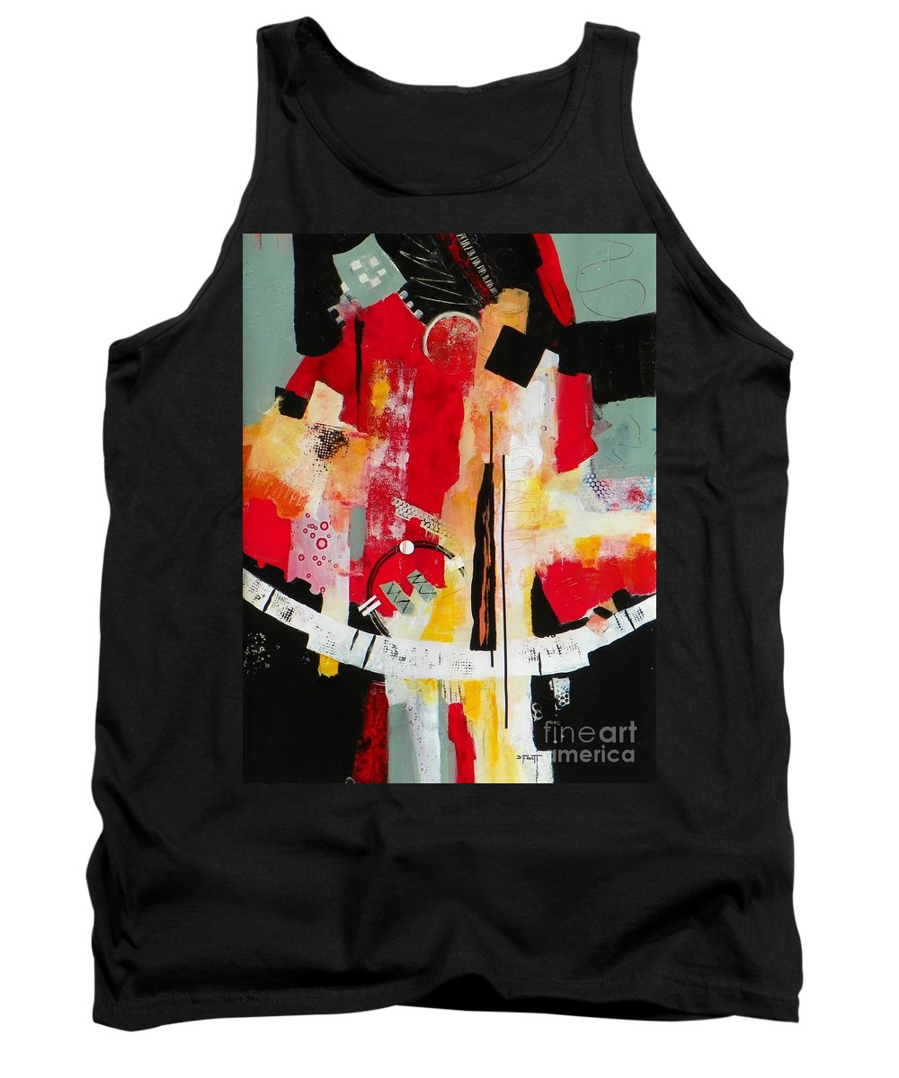 Abstract Expressionism Tank Top featuring the painting Parallels by Donna Frost