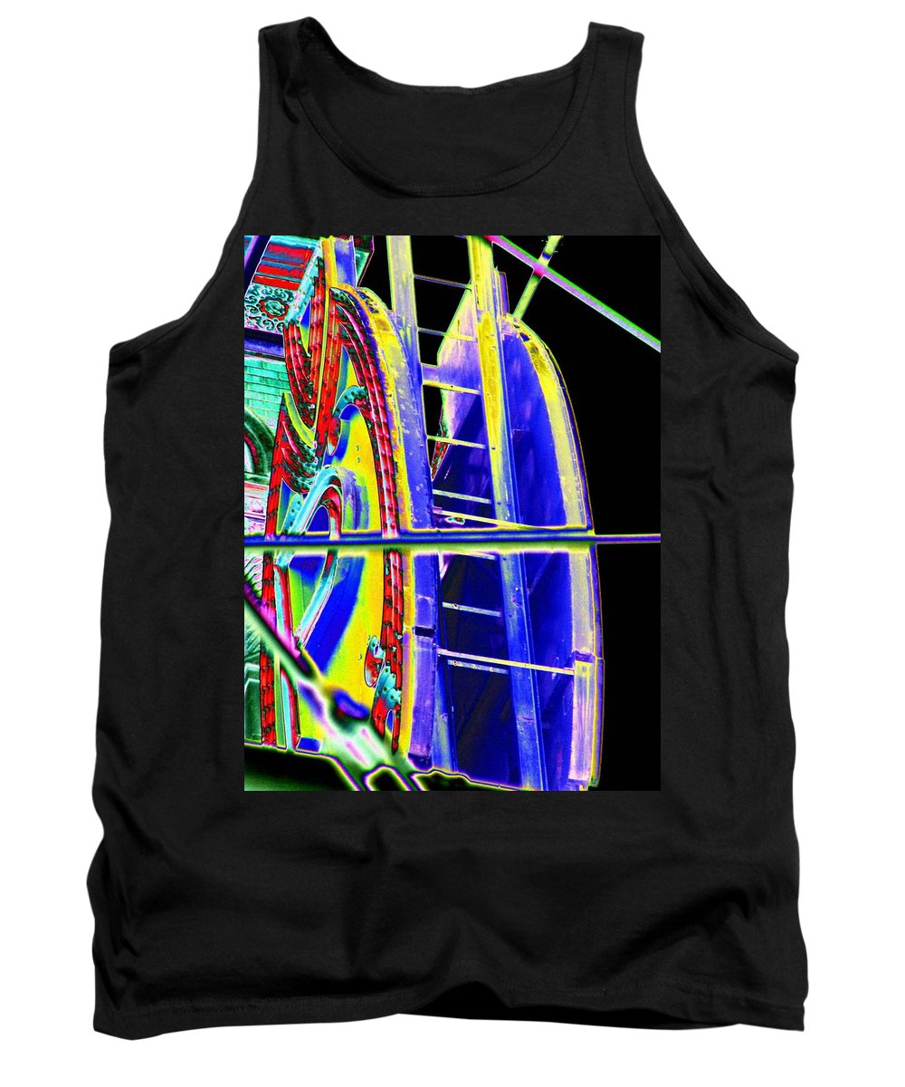 Seattle Tank Top featuring the digital art Paramount Theater Detail by Tim Allen