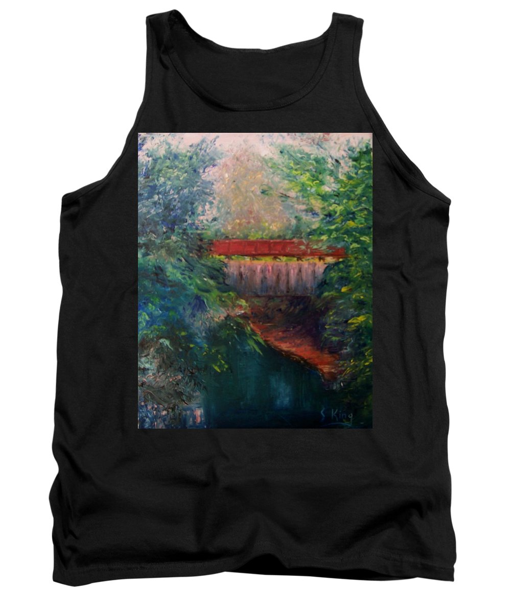 Landscape Tank Top featuring the painting Parke County by Stephen King