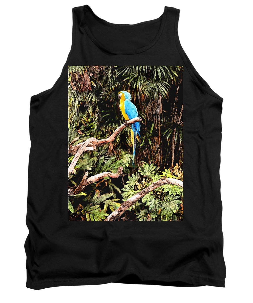 Parrot Tank Top featuring the photograph Parrot by Steve Karol
