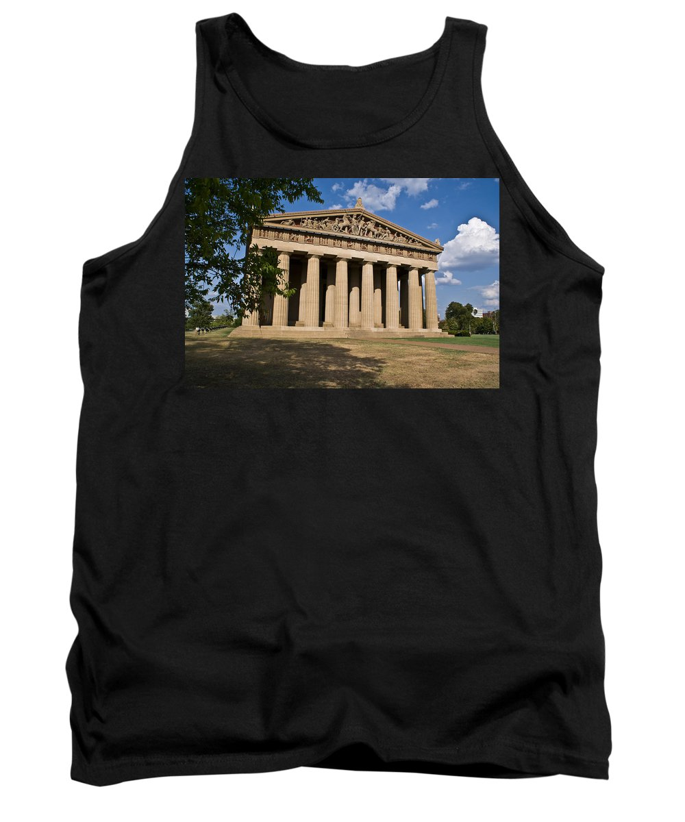 Parthenon Tank Top featuring the photograph Parthenon Nashville Tennessee by Douglas Barnett
