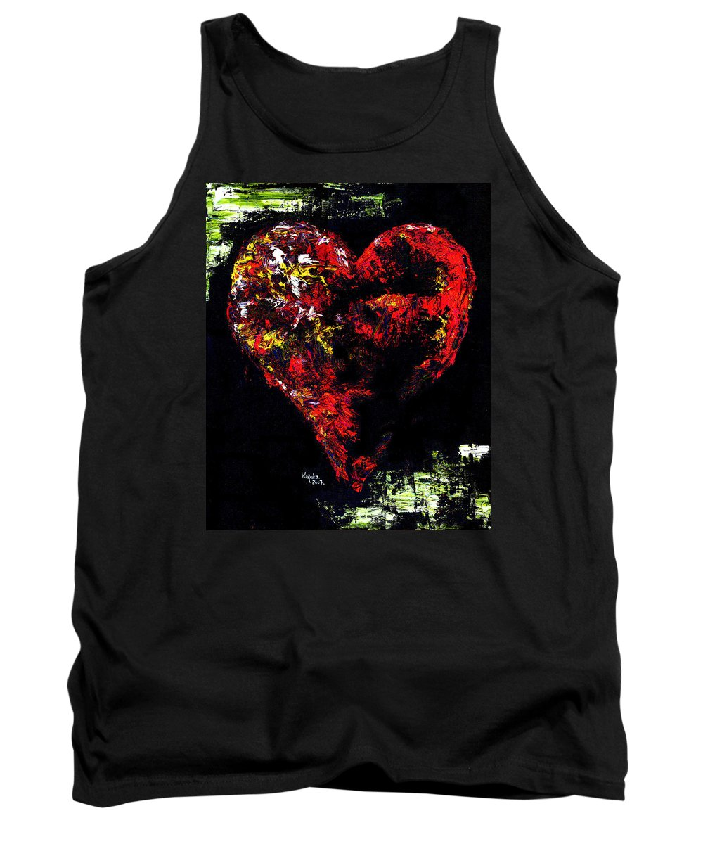 Heart Tank Top featuring the painting Passion by Hiroko Sakai