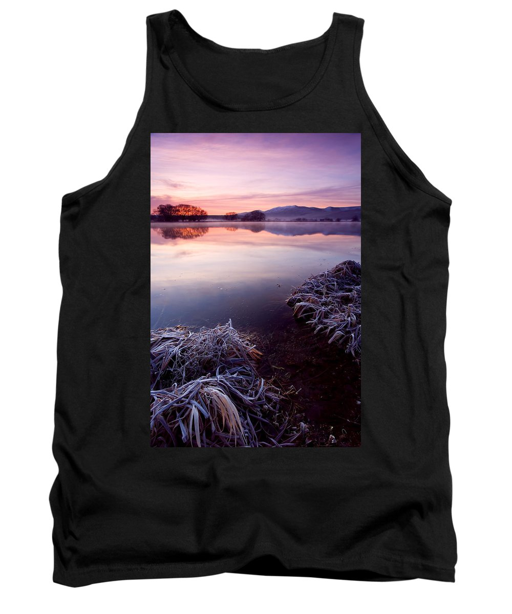 Lake Tank Top featuring the photograph Pastel Dawn by Mike Dawson