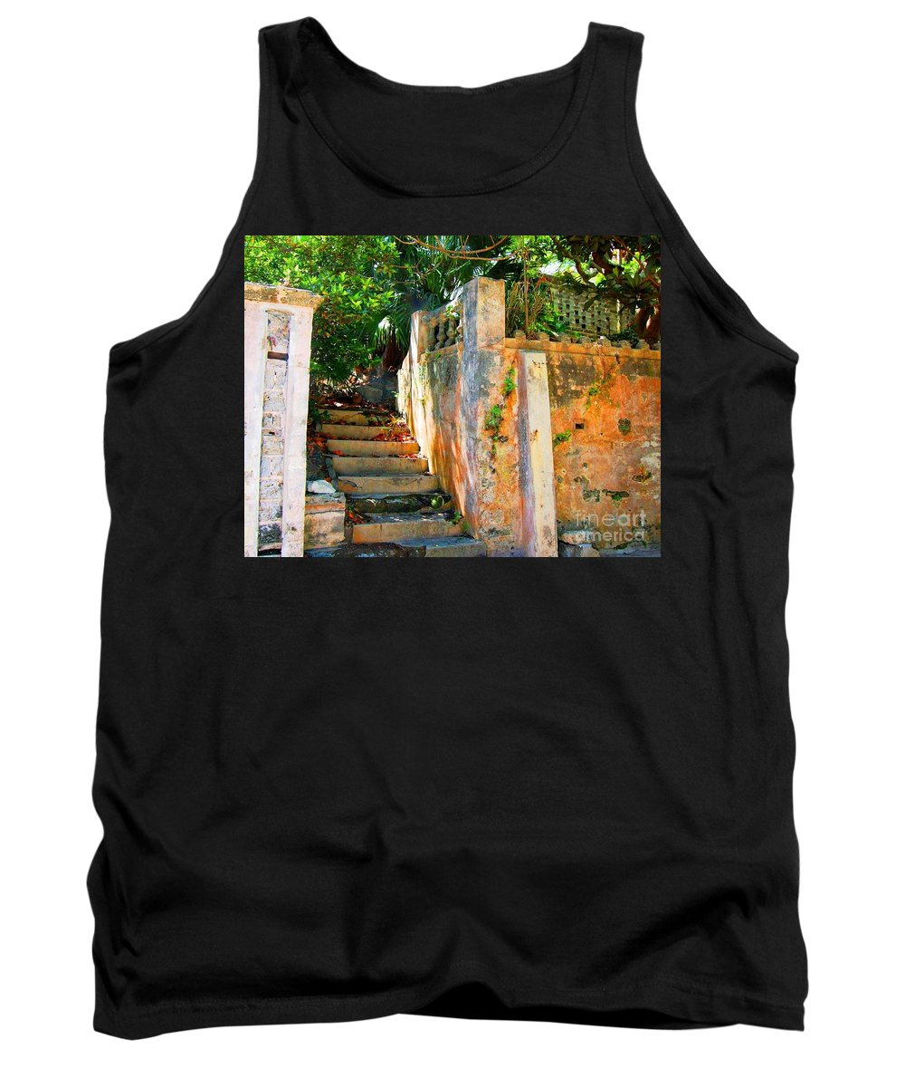Steps Tank Top featuring the photograph Pathway by Debbi Granruth