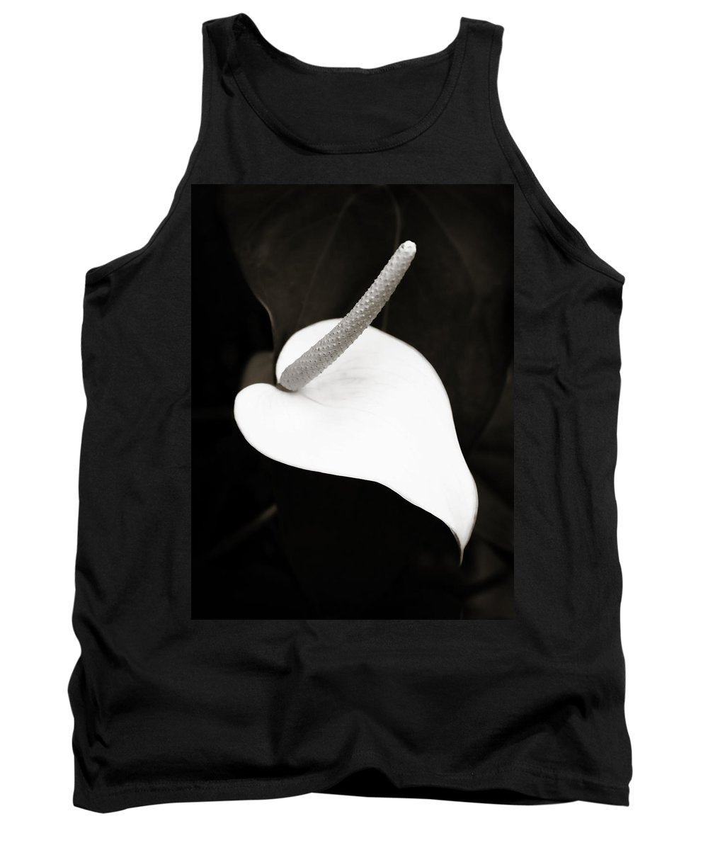 Peace Lily Tank Top featuring the photograph Peace And Love by Marilyn Hunt