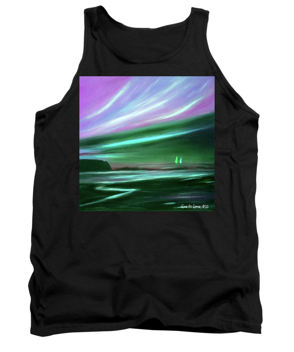Brown Tank Top featuring the painting Peace Is Colorful 2 by Gina De Gorna