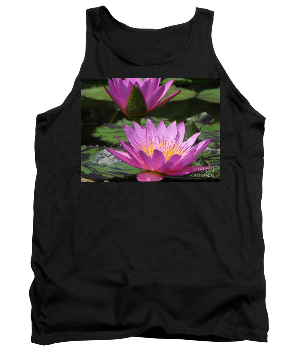 Lillypad Tank Top featuring the photograph Peaceful by Amanda Barcon