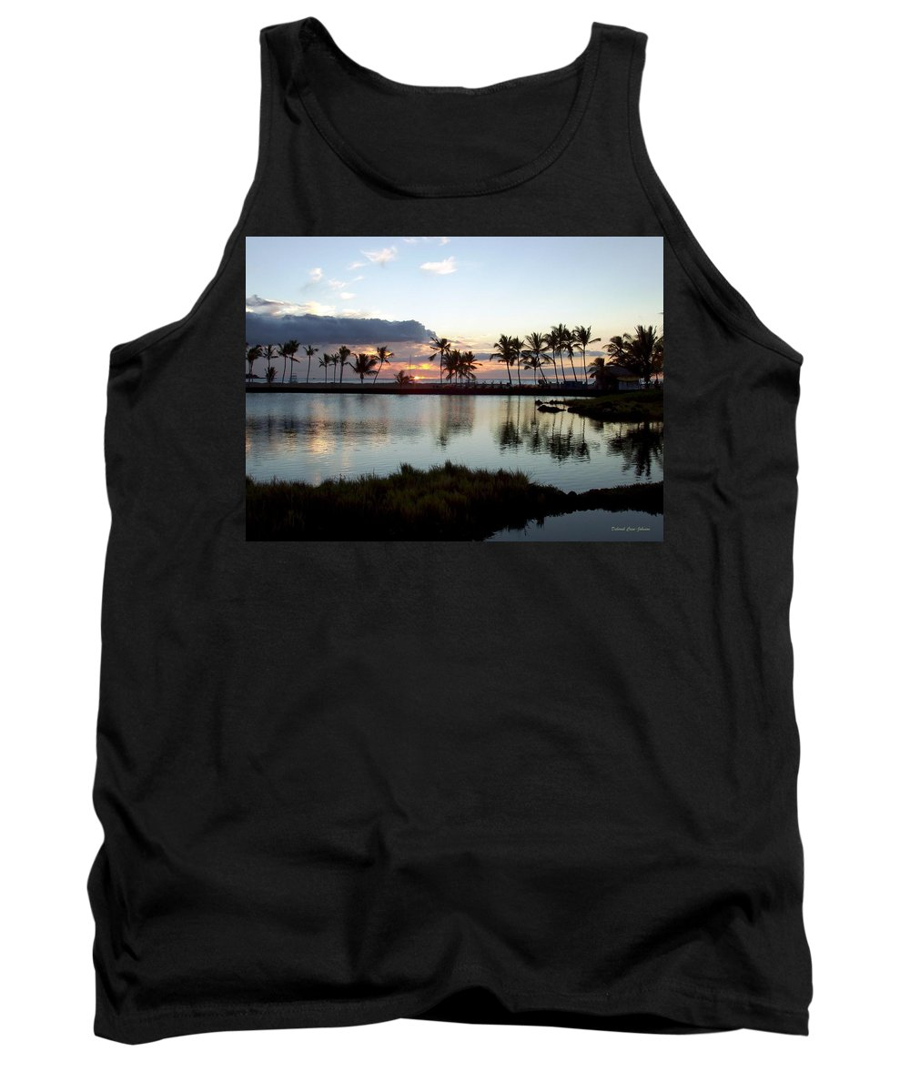 Sunset Tank Top featuring the photograph Peaceful Sunset by Deborah Crew-Johnson