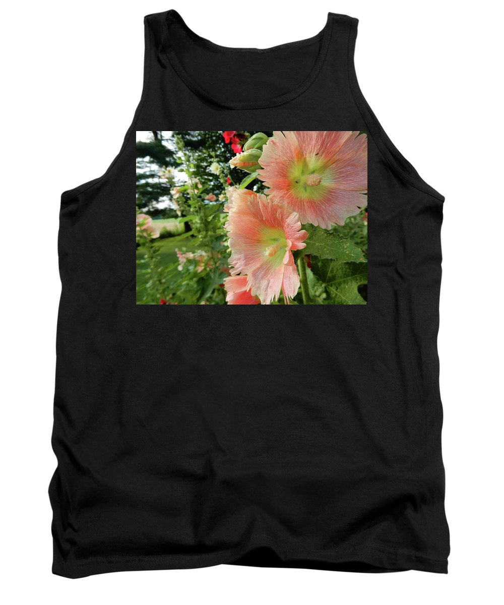Poppy Tank Top featuring the photograph Peaches And Petals by Tina M Wenger