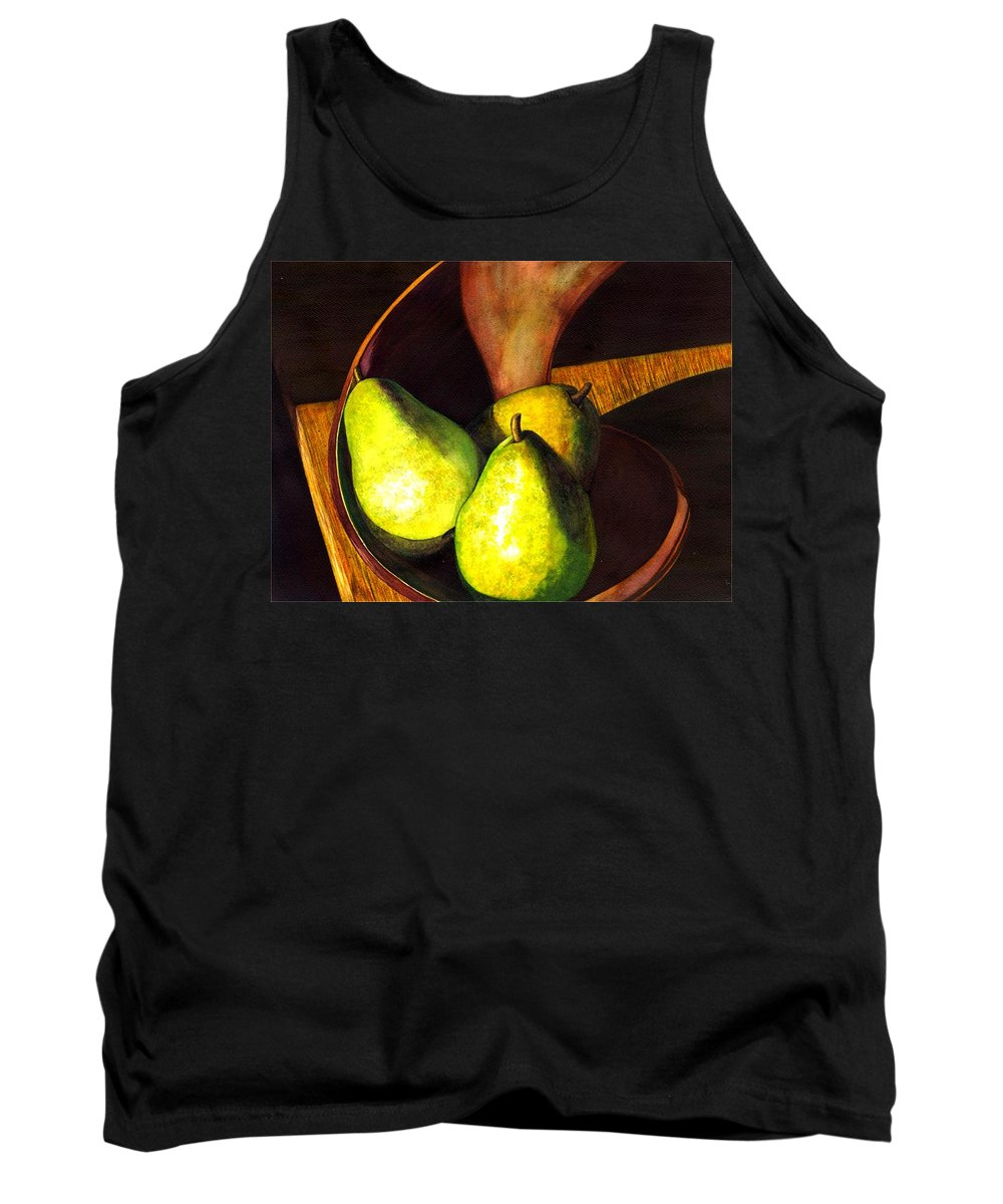 Still Life Tank Top featuring the painting Pears No 1 by Catherine G McElroy