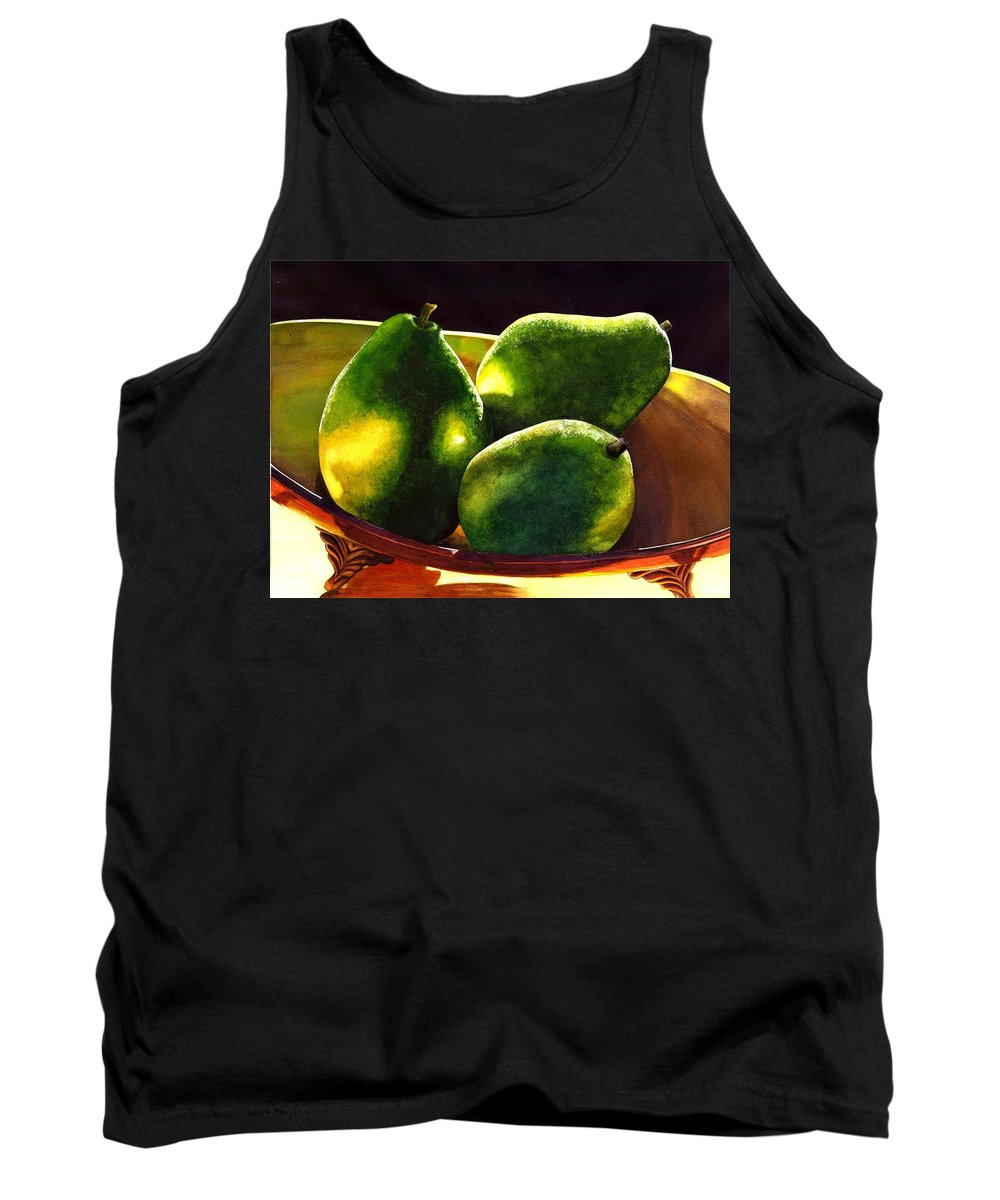 Still Life Tank Top featuring the painting Pears No 2 by Catherine G McElroy