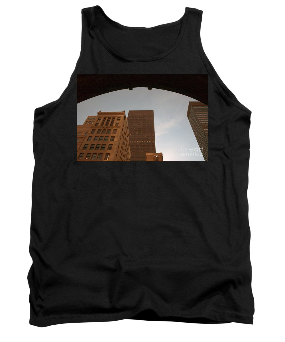 Nyc Tank Top featuring the photograph Peering Up by Karol Livote