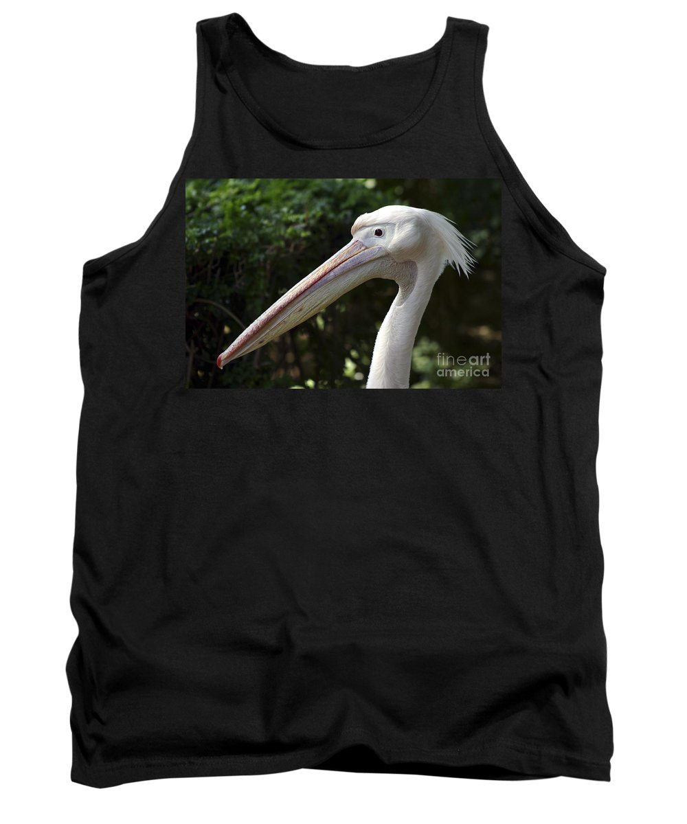 Close Up Tank Top featuring the photograph Pelican by Danny Yanai