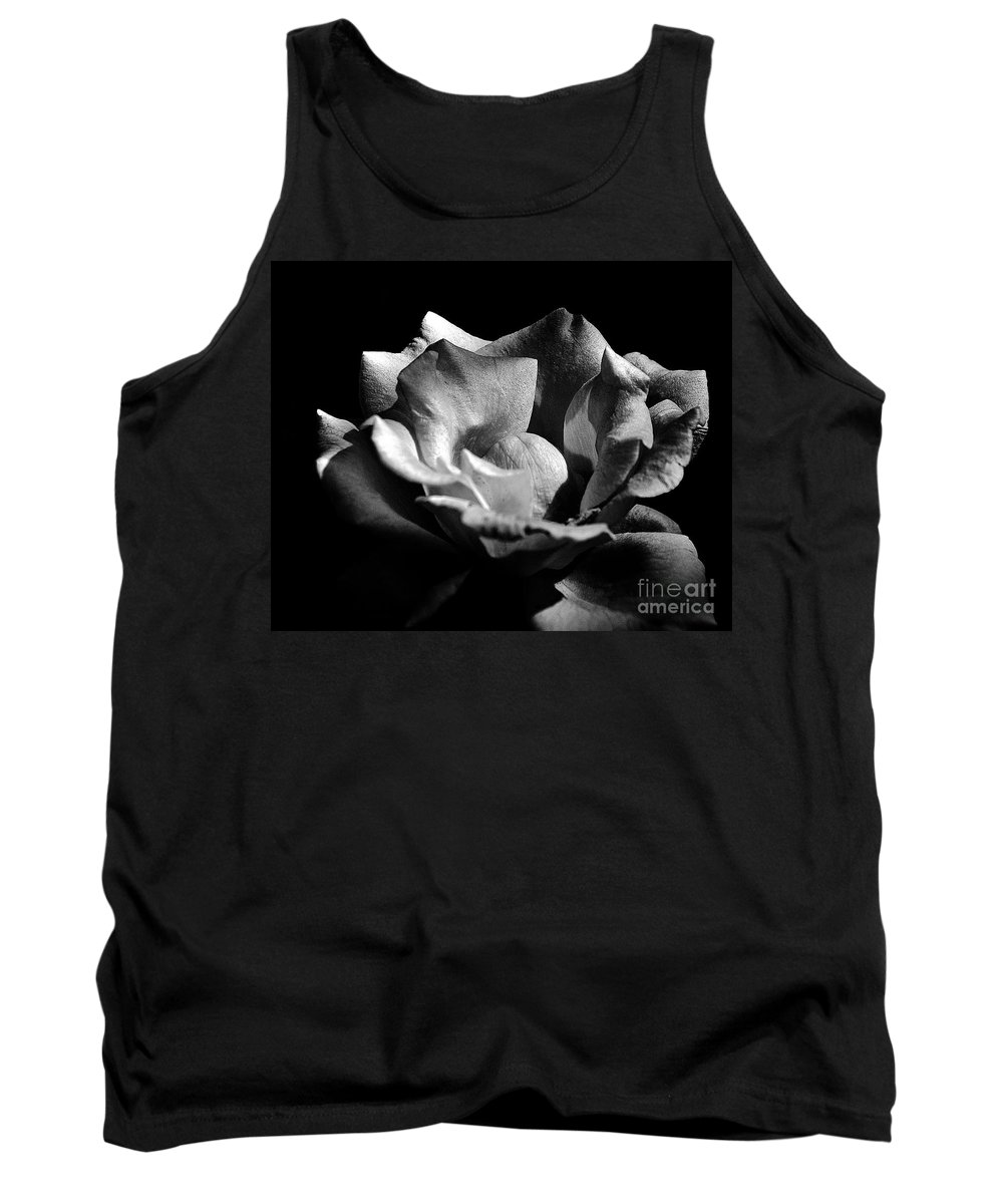 Clay Tank Top featuring the photograph Penetrating The Rose by Clayton Bruster