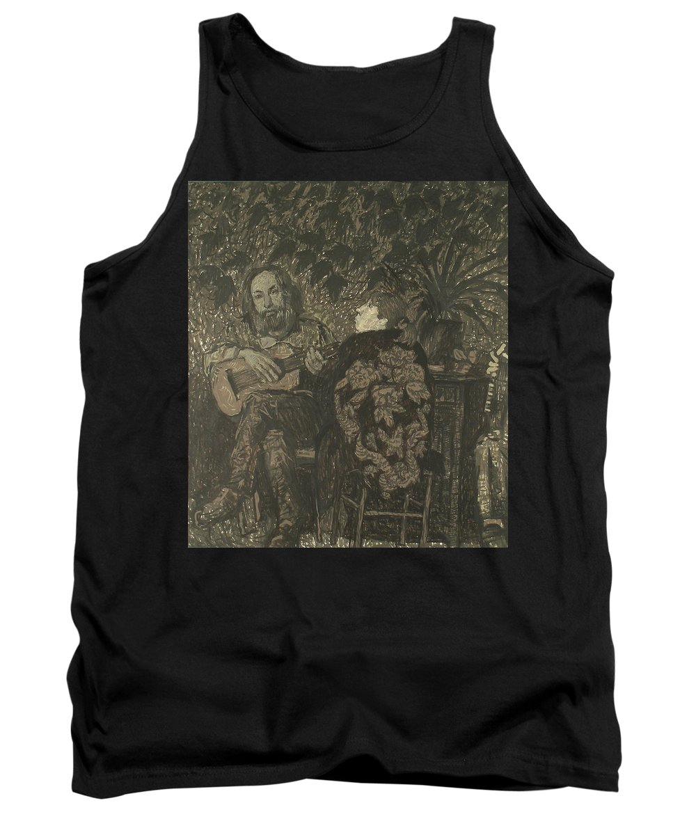 People Tank Top featuring the painting Three Persons by Robert Nizamov