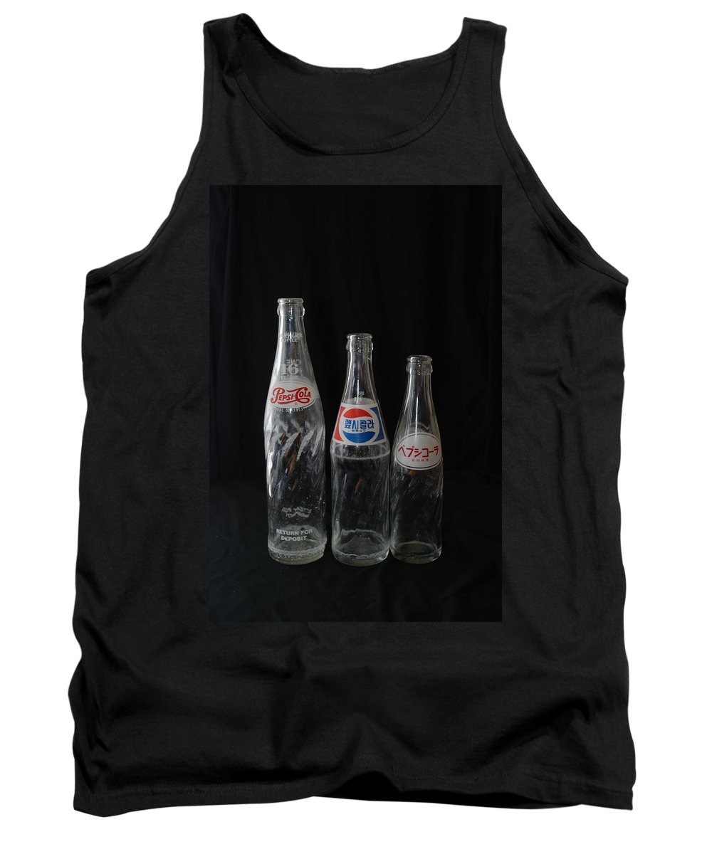 Pepsi Cola Tank Top featuring the photograph Pepsi Bottles by Rob Hans