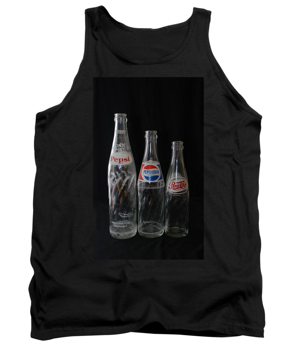 Pepsi Cola Tank Top featuring the photograph Pepsi Cola Bottles by Rob Hans