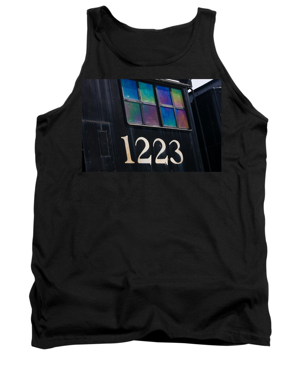 3scape Tank Top featuring the photograph Pere Marquette Locomotive 1223 by Adam Romanowicz