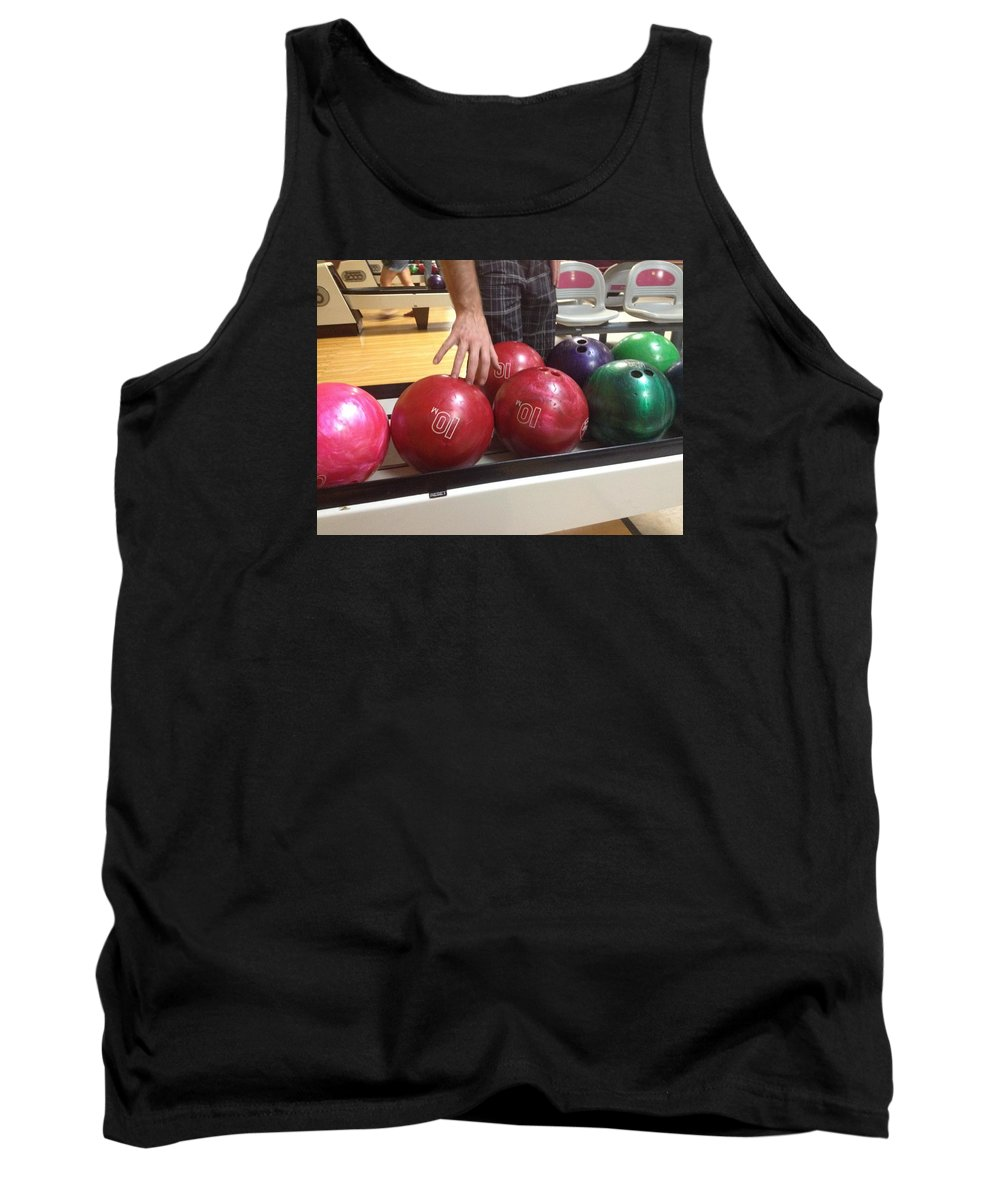 Bowling Tank Top featuring the photograph Perfect 10 by Briana Biller