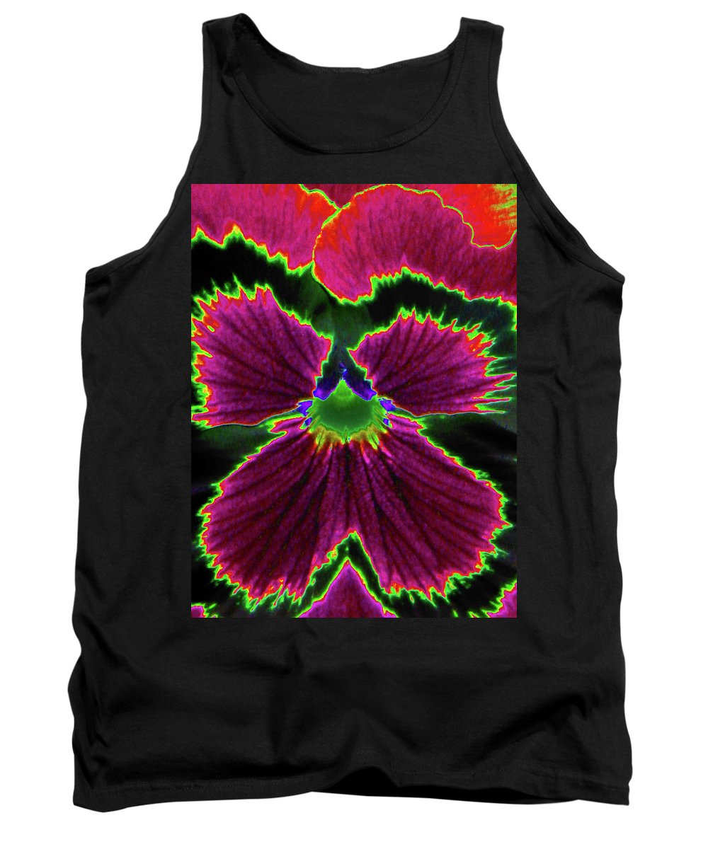 Pansy Tank Top featuring the photograph Perfectly Pansy 01 - Photopower by Pamela Critchlow
