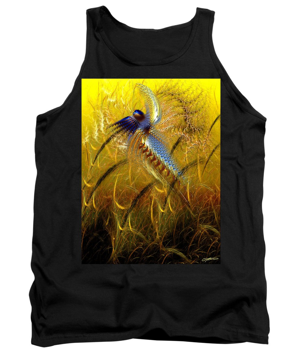 Abstract Tank Top featuring the digital art Perils Of Genetic Engineering by Casey Kotas
