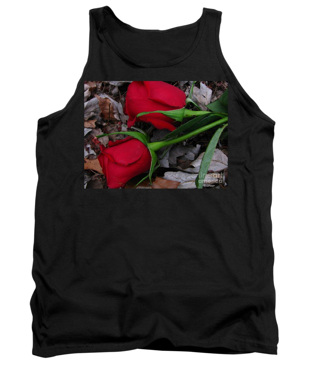 Patzer Tank Top featuring the photograph Petals And Leafs by Greg Patzer