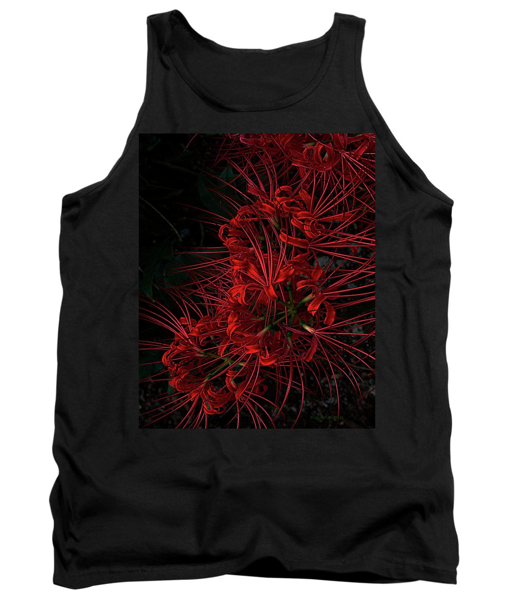 Flower Tank Top featuring the digital art Petals Of Fireworks by DigiArt Diaries by Vicky B Fuller