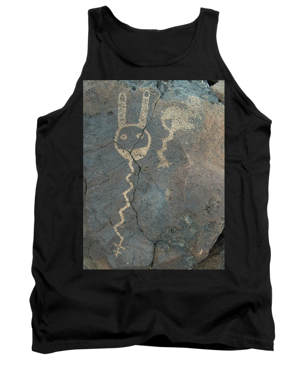 Petroglyph Tank Top featuring the photograph Petroglyph Series 1 by Tim McCarthy