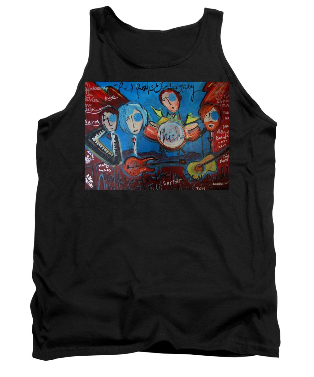Painting Tank Top featuring the painting Phish For Red Rocks Amphitheater by Laurie Maves ART